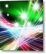Abstract Of Stage Concert Lighting Metal Print