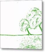 Abstract Tree Art By Shawna Erback Metal Print