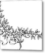 Advertising Art: Wreath Metal Print