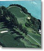 Aerial Of A Golf Course In Bermuda Metal Print