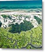 Aerial Vew Of Sandy Neck Beach In Barnstable On Cape Cod Massac Metal Print