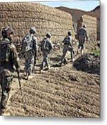 Afghan National Army And U.s. Soldiers Metal Print