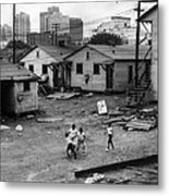 African American Children Playing Metal Print by Everett