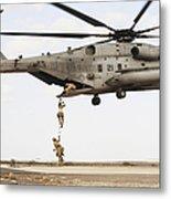 Air Force Pararescuemen Conduct Metal Print