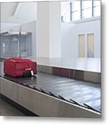 Airport Baggage Claim Metal Print by Jaak Nilson