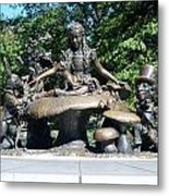 Alice In Wonderland In Central Park Metal Print