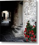 Alley With Arches Metal Print