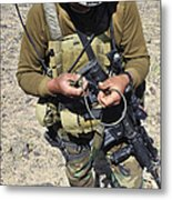 An Afghan National Army Soldier Metal Print