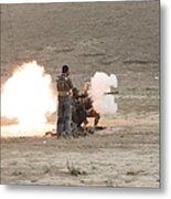 An Afghan Police Studen Fires Metal Print