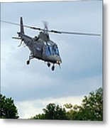 An Agusta A109 Helicopter Metal Print