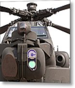 An Ah-64d Apache Helicopter Metal Print