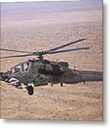 An Ah-64d Apache Longbow Fires A Hydra Metal Print
