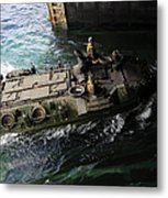 An Amphibious Assault Vehicle Enters Metal Print