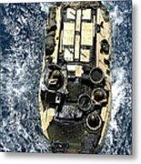 An Amphibious Assault Vehicle Navigates Metal Print
