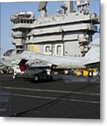 An Ea-6b Prowler Makes An Arrested Metal Print