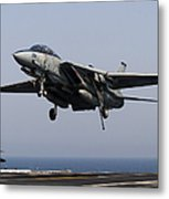 An F-14d Tomcat Comes In For An Metal Print
