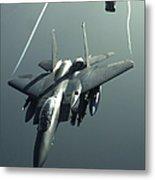 An F-15e Strike Eagle Flies Over Iraq Metal Print