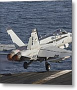 An Fa-18c Hornet Taking Metal Print