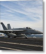 An Fa-18f Super Hornet Takes Metal Print by Stocktrek Images