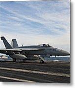 An Fa-18f Super Hornet Takes Metal Print