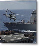 An Mh-60s Knighthawk Helicopter Metal Print