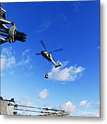 An Mh-60s Sea Hawk Helicopter Metal Print