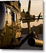 An Oh-58d Kiowa During Sunset Metal Print