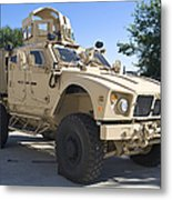 An Oshkosh M-atv Mine Resistant Ambush Metal Print
