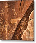 Ancient Indian Petroglyphs Metal Print