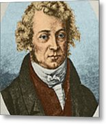 Andre Marie Amp�re, French Physicist Metal Print