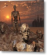 Android Fossils Preserved Metal Print