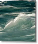 Aqua Blue Waves Metal Print