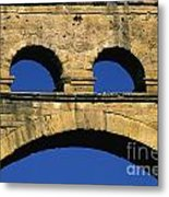 Aqueduc Du Pont Du Gard.provence Metal Print by Bernard Jaubert