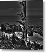 Arch Rock Oregon Coast Metal Print