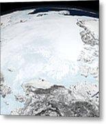 Arctic Sea Ice Metal Print