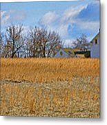 Artist In Field Metal Print by William Jobes