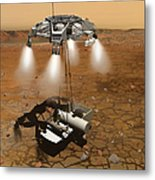 Artists Concept Of An Ascent Vehicle Metal Print