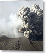 Ash Cloud Following Explosive Vulcanian Metal Print