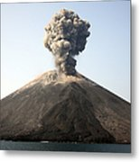 Ash Cloud From Vulcanian Eruption Metal Print