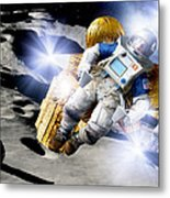 Asteroid Deflection, Astronauts Metal Print