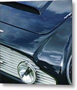 Aston Martin 1963 Aston Martin Db4 Series V Vintage Gt Grille Emblem -0140c Metal Print