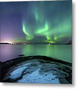 Aurora Borealis Over Vagsfjorden Metal Print