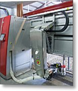 Automatic Milking Machine Metal Print