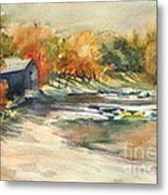 Autumn Morning At The Cove Metal Print