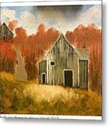 Autumn Rustic Barns Metal Print
