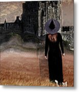 Autumn Witch Metal Print