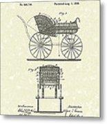 Baby Carriage 1886 Patent Art Metal Print