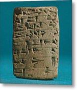 Babylonian Clay Tablet Metal Print