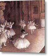 Ballet Rehearsal On The Stage Metal Print