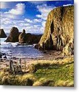 Ballintoy, County Antrim, Ireland Beach Metal Print